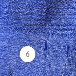 lululemon athletica Tops - Lululemon blue LS Run Swiftly, sz 6, 58885